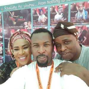 Femi Adebayo Flaunts Wedding Ring in Selfie with Faithia Balogun and Ruggedman